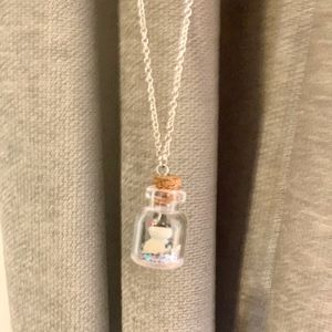 Mini Snow-Globe W/ Snowman Necklace